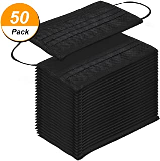 50 pieces, disposable masks, stylish breathable masks, black for outdoor activities, cleaning, beauty