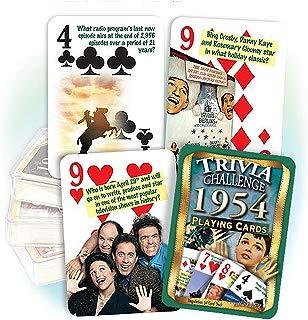 Flickback Media, Inc. 1954 Trivia Playing Cards: Happy 65th Birthday