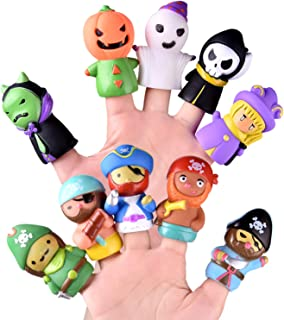 FUN LITTLE TOYS 10 PCs Finger Puppets for Kids, Best Choice for Party Favors, Pinata Fillers and Goodie Bag Fillers