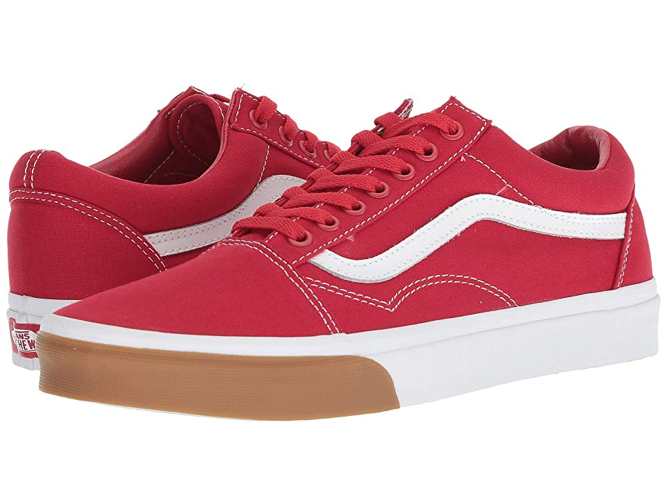 Vans Old Skooltm ((Gum Bumper) Red/True White) Skate Shoes