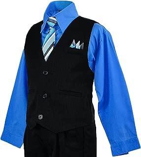 Boys Toddler Pinstripe Vest Suit Blue Shirt Size 10