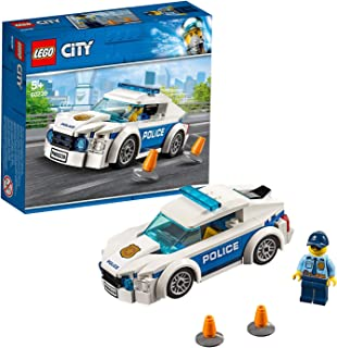 LEGO City Police Patrol Toy Car, Cop Minifigure Accessories, Police Toys for Kids