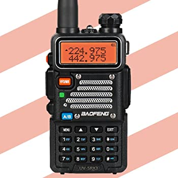 Baofeng UV-5RX3 Tri-Band Two-Way Radio with Earpiece and Charger
