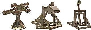Abong Wooden Mini Medieval Desktop Warfare Model Kits to Build - Catapult, Trebuchet, and Ballista - Includes All 3 Models...