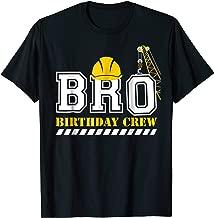 Brother Birthday Crew Construction Birthday Party T-Shirt