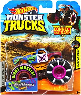 Pure Muscle Giant Wheels Monster Trucks with Connect & Crash Car