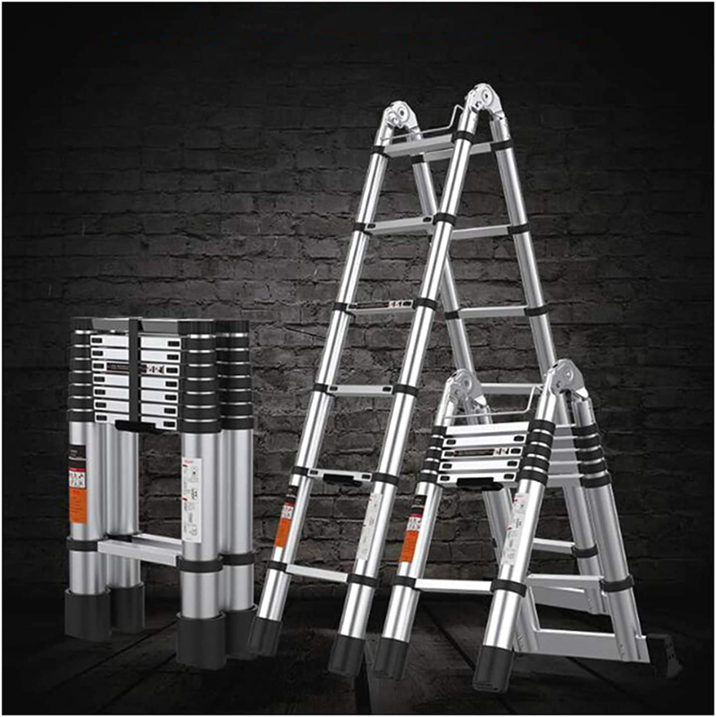 HBSC Portable Telescopic Ladder with Ma Bombing free shipping and Lock Non-Slip Max 47% OFF Safety