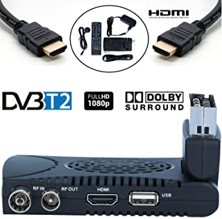 Tempo 1000 Decodificador TDT Terrestre - Digital TV HD Euroconector Sintonizador Receptor DVB T2 Tuner Full HD / HDTV / 1080P / H.264 / MPEG / USB / Multimedia