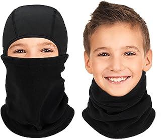 Arcweg Kids Balaclava Ski Mask Thermal Fleece Neck Warmer Winter Windproof Face Hood Mask Fits Under Helmets for Boys Girl...