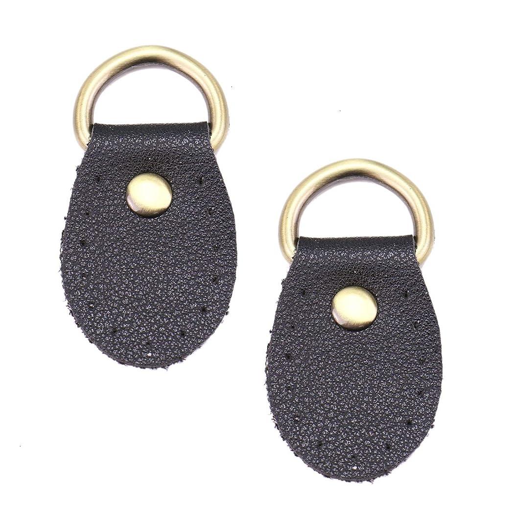 Monrocco 10 Pcs Black Sew on Handbag Replacement Artificial Leather Handle Buckles Tabs DIY