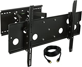 Mount-it! MI-310B-CBL TV Wall Mount Full Motion and Heavy-Duty, Swivels and Tilts, for LCD LED Plasma 32