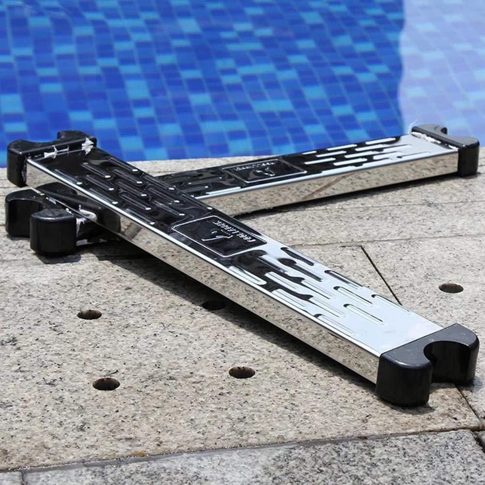ViXiLin Accesorios de Escalera de Piscina de Pedal de Escalera mecánica de Acero Inoxidable 304 Pedal Antideslizante: Amazon.es: Jardín
