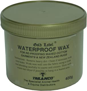 Waterproof Wax, Gold Label. Re-proofing For All Waxed Cotton Garments, 400 Gm