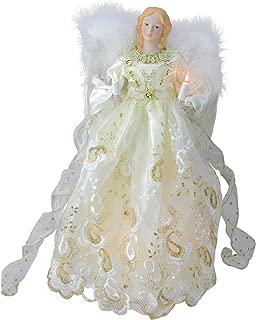 tree top angel with lights