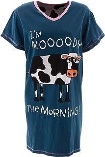 LazyOne Damen Mooody in the Morning Nachthemd V-Ausschnitt
