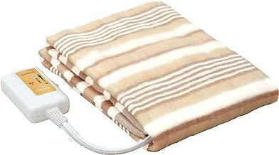 [山善] 電気敷毛布 (丸洗い可能) 140×80cm ブラウン YMS-13(T) [メーカー保証1年]