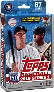 Hanger Box 2019 Topps Baseball Factory Sealed Series One with 67 Cards per Box Possible Autographs Rookies Game Used Relic Cards and More