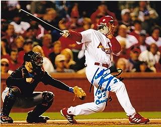 Scott Spiezio St. Louis Cardinals 2006 Ws Champs Autographed Signed 8x10 Photo
