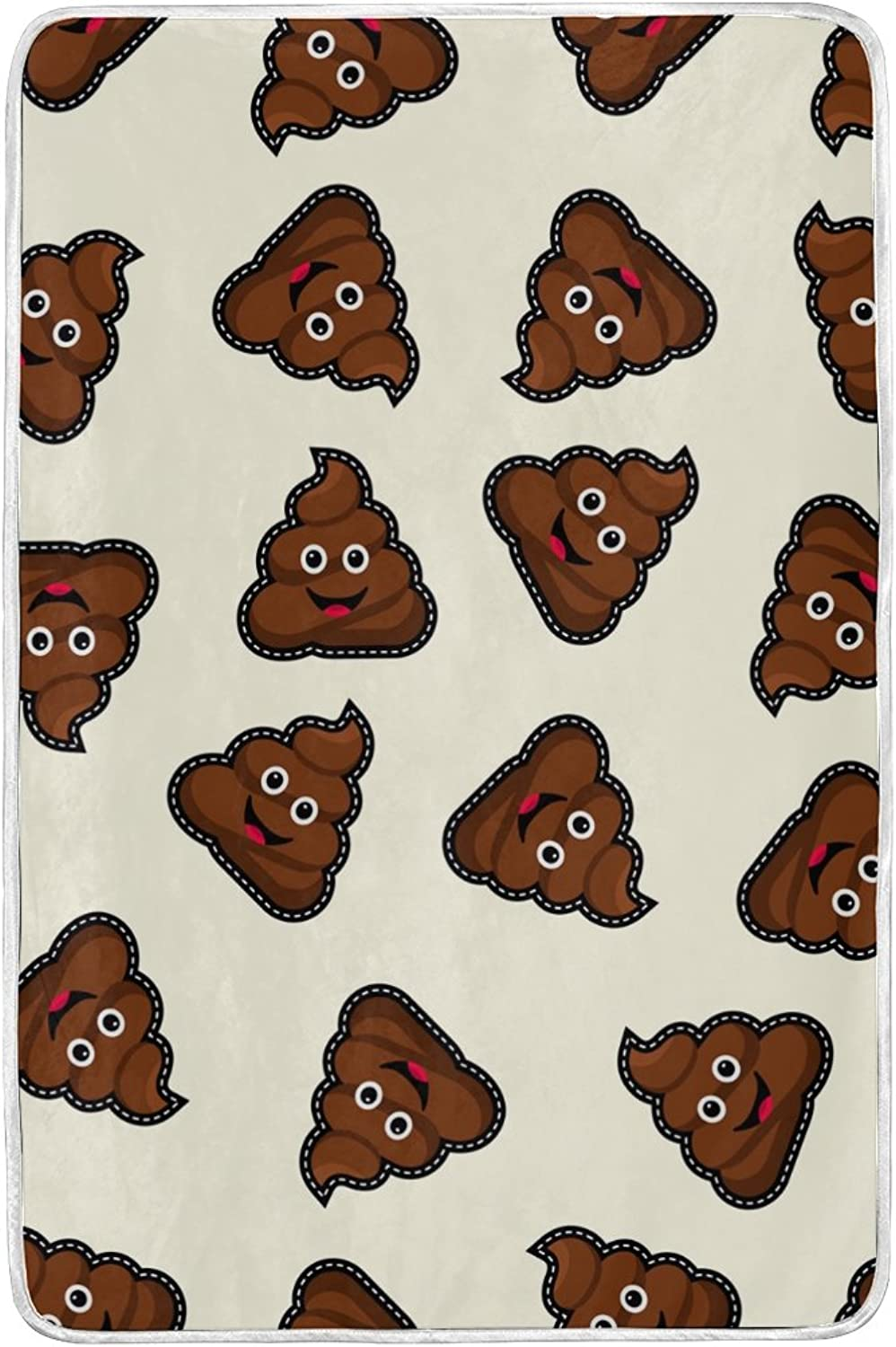ALAZA Poop Icon Blankets Lightweight Blanket for Adults Men Women Girls Kids Girls Boys Teens Extra Soft Polyester Fabric Super Warm Sofa Blanket Throw Size 60 x 90 Inch