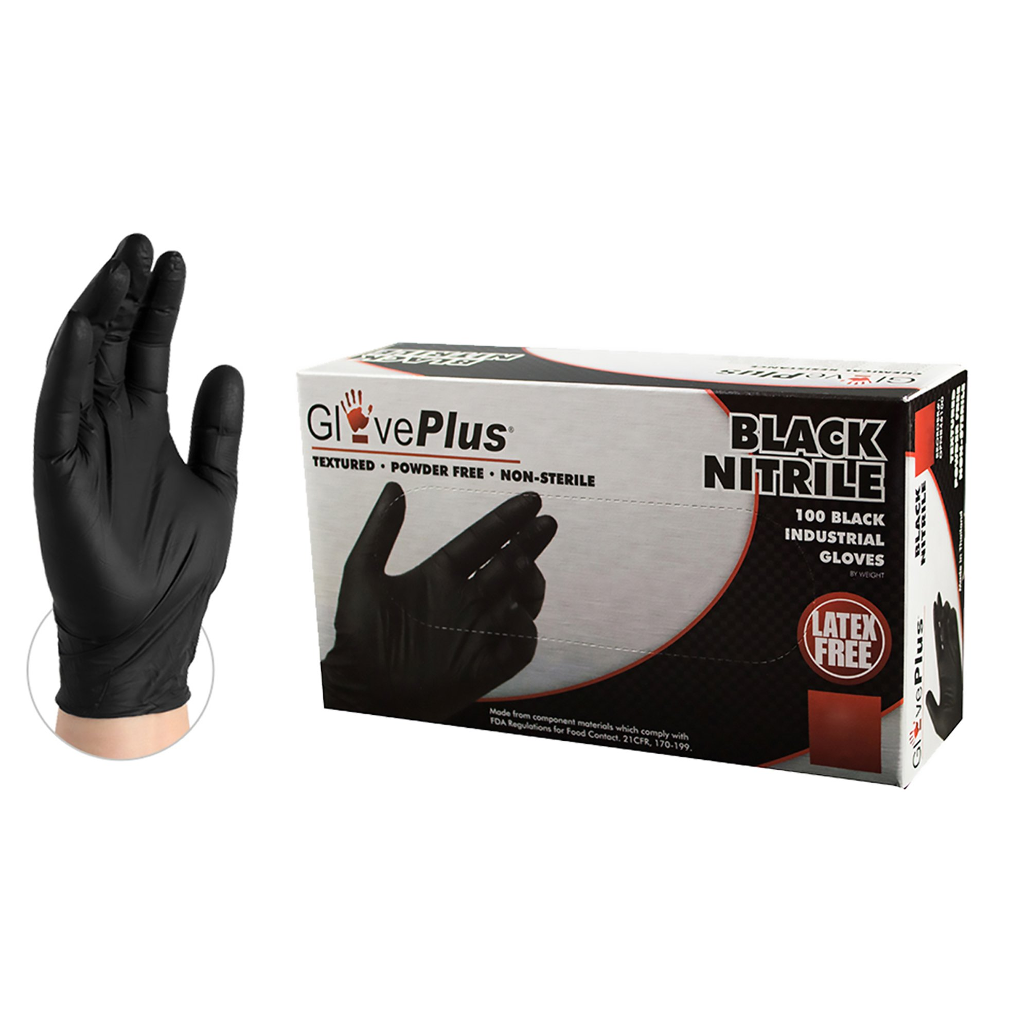 AMMEX GPNB46100 BX GlovePlus Disposable Industrial