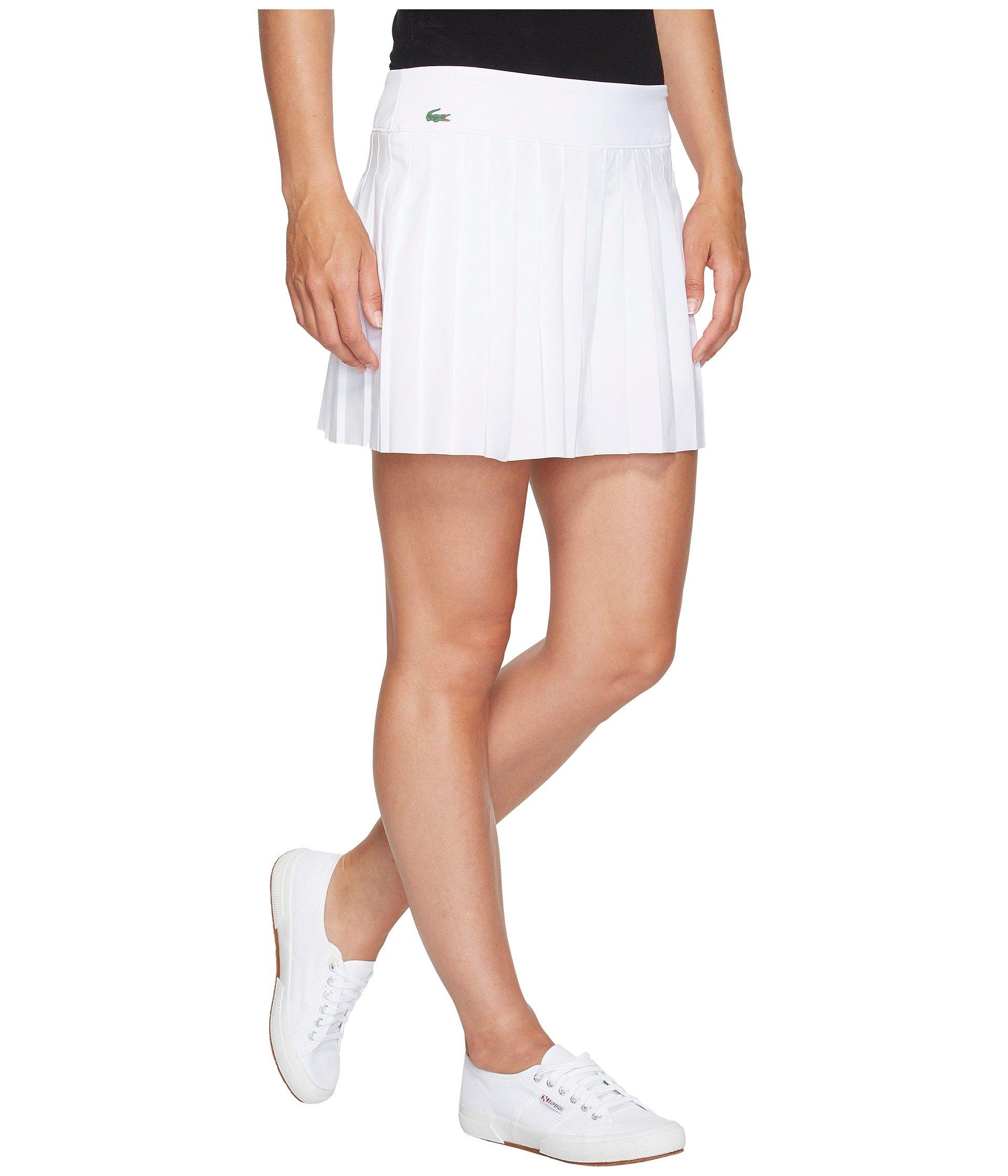 Lacoste Light Technical Woven Pleated Skirt