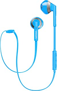 Philips SHB5250BL Wireless Bluetooth Earphones with Microphone, Volume Control, Light, Rich Bass, ideal for Sports - Blue (SHB5250BL/00)
