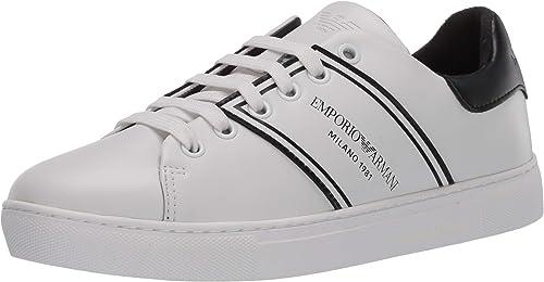 Emporio armani sneaker, scarpe da ginnastica. bambina in pelle lace up X3X096XM090D611