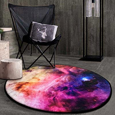 DLL Carpet Creative Fashion Round Bedroom Living Room Computer Chair Blanket (Color : D, Size : 120cm)