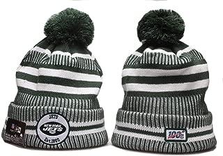 KATHLEEN 2019 New Fans hat Sideline Sport Knit Winter Pom Knit Hat Cap …