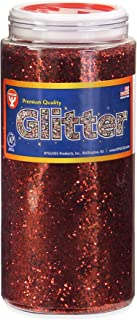 Hygloss Products Sparkling Glitter - Arts & Crafts - Variety of Uses - Fun for Slime - Red - Safe & Non-Toxic - 1 Bottle, 16 0z each