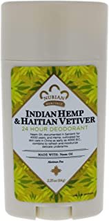 Nubian Heritage/Sundial Creations Indian Hemp and Haitian Deodorant, Vetiver with Neem Oil, 2.25 Ounce