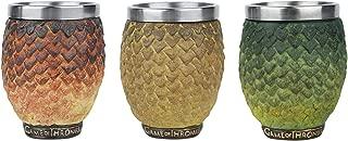 Game of Thrones Drogon Rhaegal Viserion & Dragon Egg Shot Glasses - Boxed