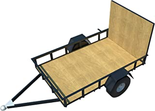 Utility Trailer Plans DIY 5' x 8' Open Lawn Cargo Carrier Build Your Own