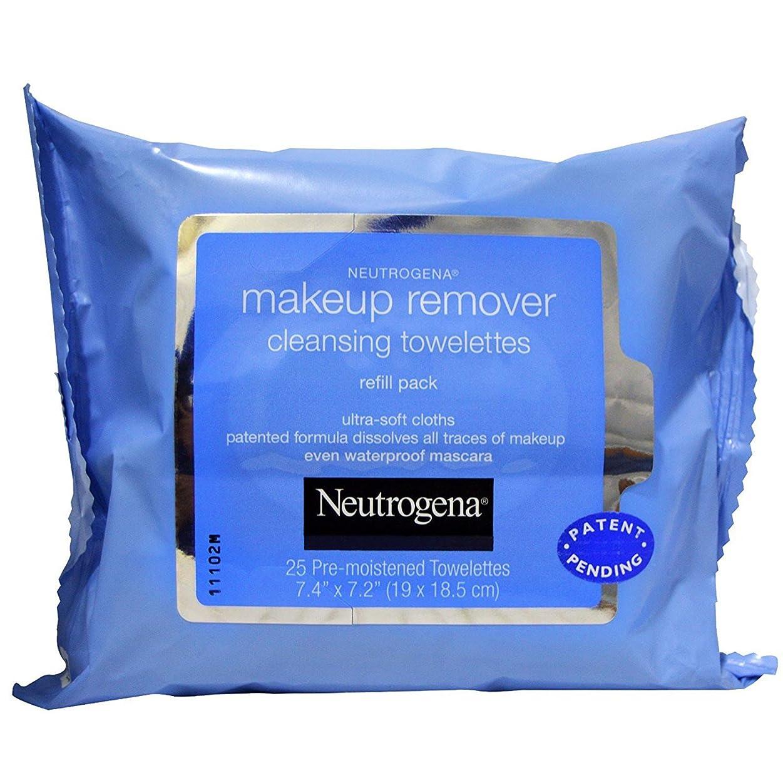 割れ目孤独アンティークNEUTROGENA Makeup Remover Cleansing Towelettes Refill Pack - 25 Count - 25 Towelettes