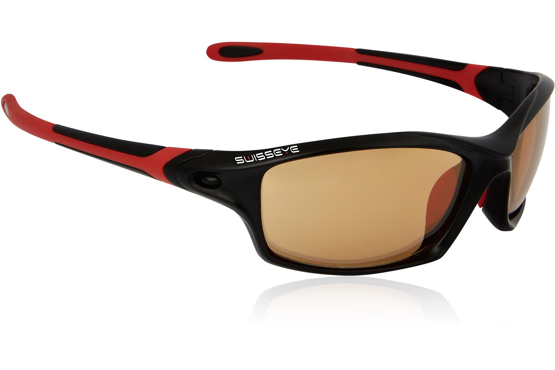 Swiss Eye Sportbrille Grip, Black Matt/Red