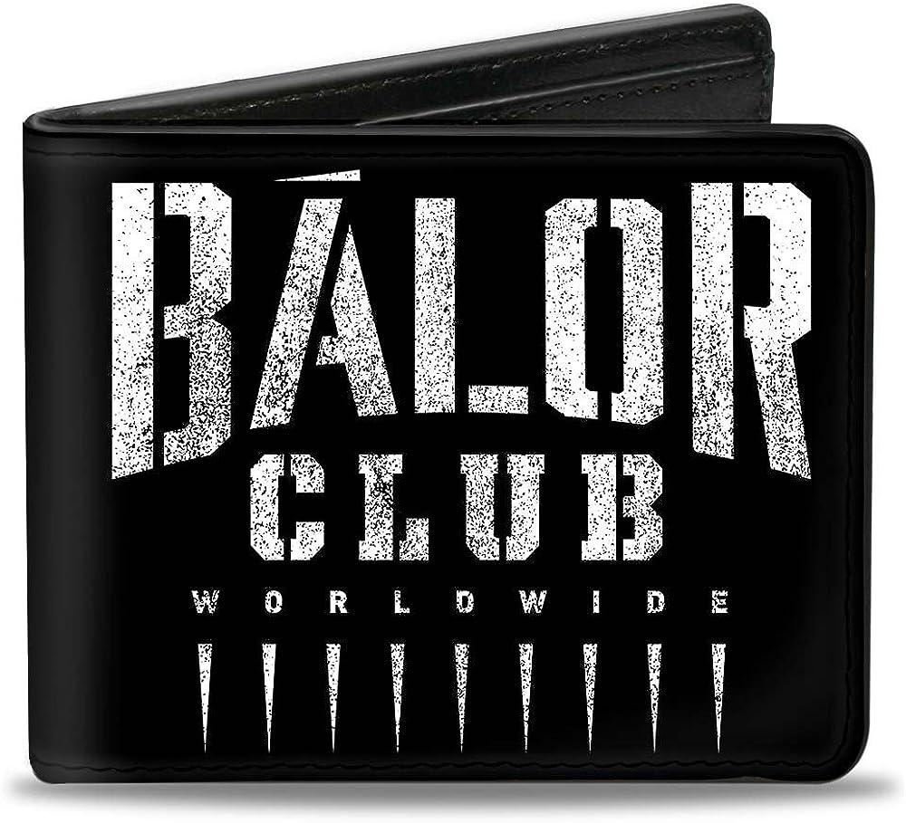 Buckle-Down PU Bifold Wallet - Finn Balor BALOR CLUB WORLDWIDE + BC Icon Weathered Black/White