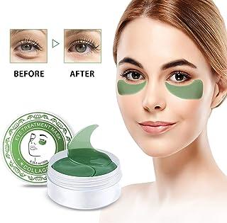 Máscara para Los Ojos, HailiCare 60pcs Parches para Los Ojos de Colágeno Antiarrugas Hidratante para Debajo de Los Ojos Anti Edad para Ojeras Aclarar Las Arrugas Finas de Ojos (Verde)