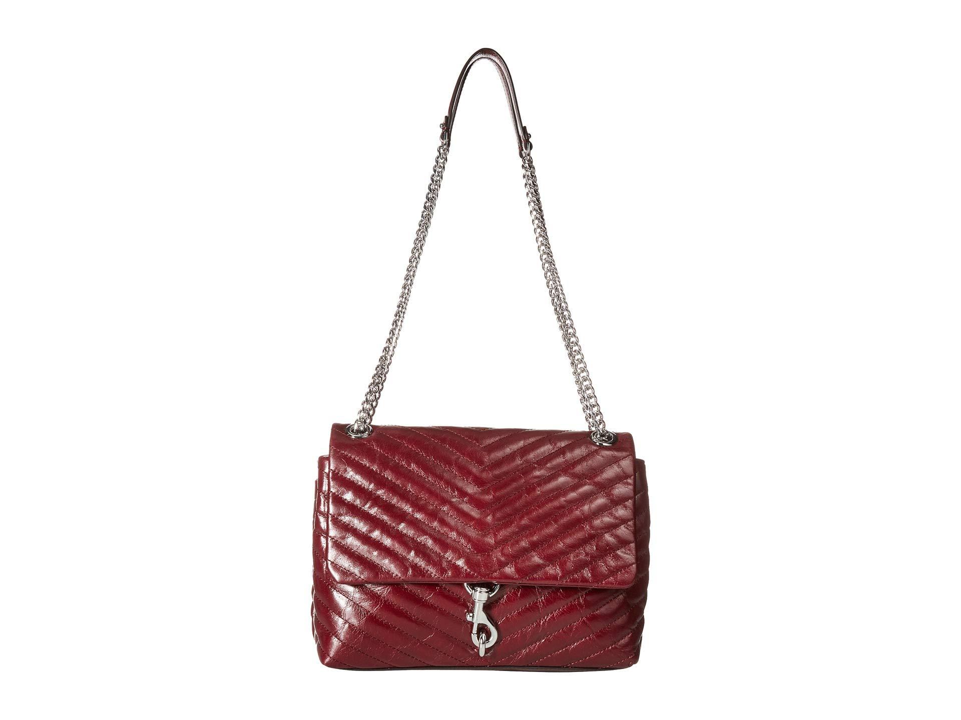 Minkoff Bordeaux Edie Shoulder Bag Flap Rebecca RCpxnq76ww