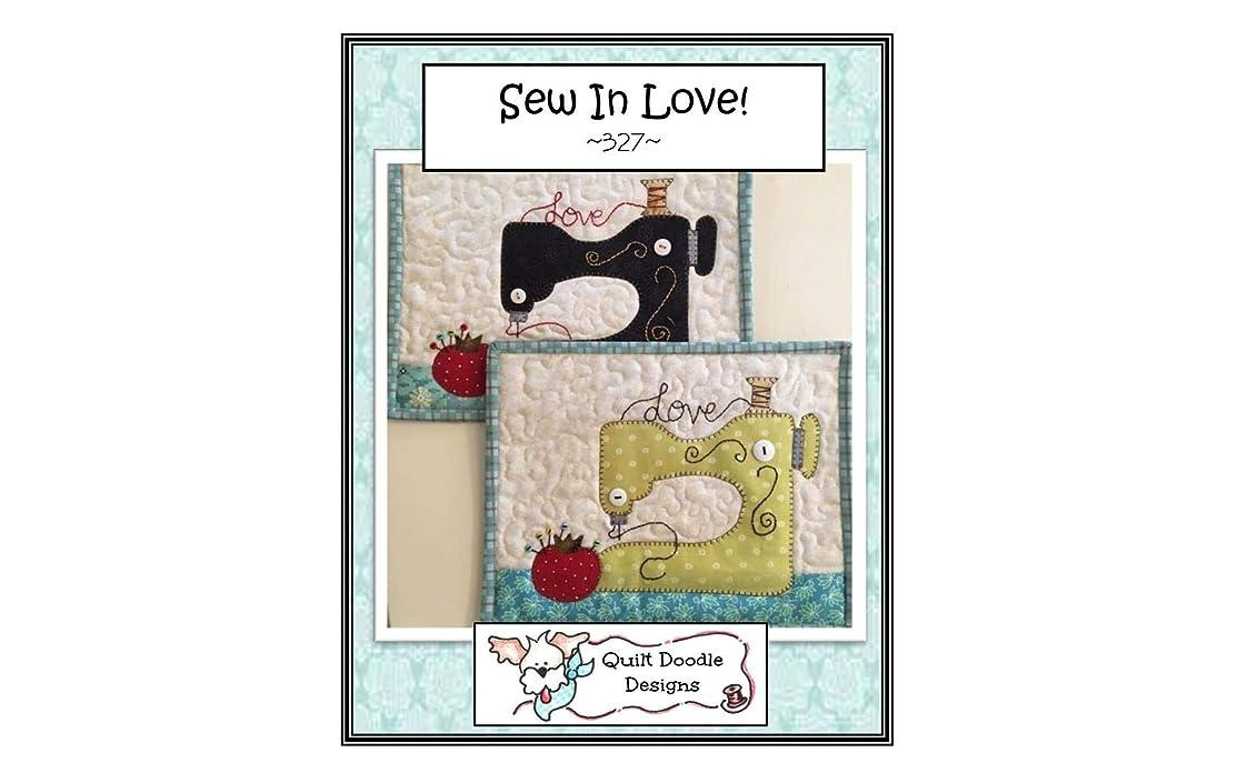 Quilt Doodle Designs QD-327 Sew in Love Mug Rug Pattern