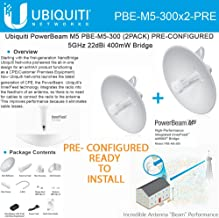 Ubiquiti PowerBeam M5 PBE-M5-300 2PACK PRE-CONFIGURED 5GHz 22dBi 400mW Bridge