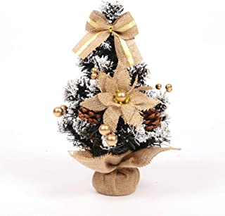 人造圣诞松果花艺桌树小假浆果圣诞树婚庆花园用人造松树圣诞树工艺装饰品用于家庭办公室购物吧,30cm(红色)