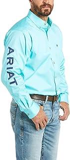 Men's Big and Tall Team Logo Long Sleeve Twill Shirt