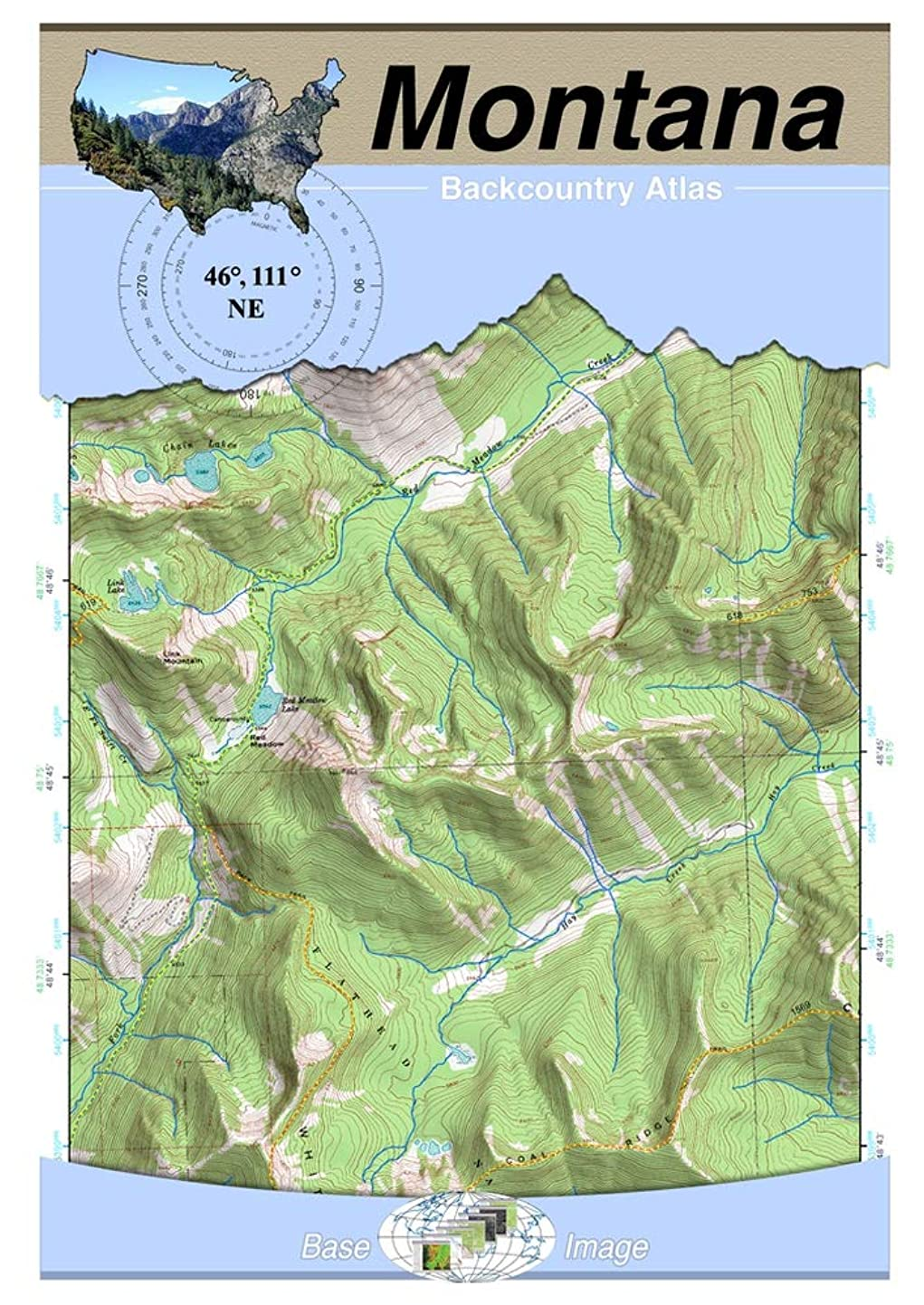 野ウサギ右注入46°111° NE - Canyon Ferry Dam, Montana Backcountry Atlas (Topo) (Montana Backcountry Atlas A4 25000 Scale) (English Edition)