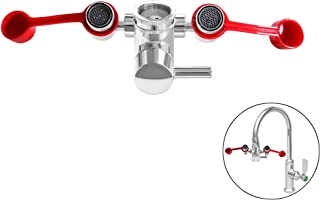 SmarterFresh Faucet Mounted Eyewash Station – Reliable First AID Emergency Eye Wash Unit for Sink Attachment – Sink Mount Eye Flush Shower for Eyes and Skin