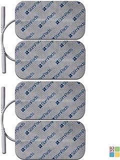 StimPads, 50X90mm, Pack de 4 Unidades de Alto Rendimiento, electrodos TENS - EMS de Larga duración con Conector Universal Tipo Pin de 2mm