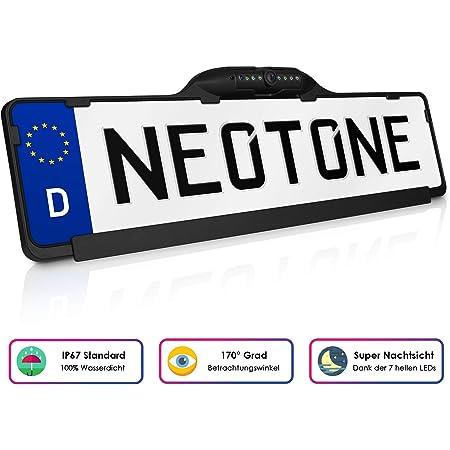 Neotone Ntk 190z Universelle Rückfahrkamera In Kennzeichenhalterung 170 Weitwinkelobjektiv Ip67 Feuchtigkeitsschutz Höchste Qualität Navigation