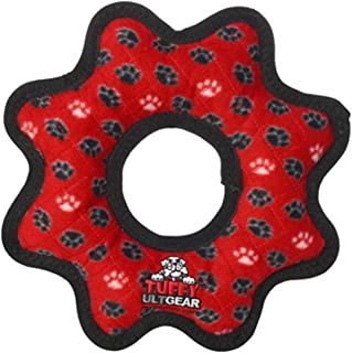 TUFFY- World's Tuffest Soft Dog Toy- Ultimate Gear Ring-Squeakers - Multiple Layers. Made Durable, Strong & Tough.Interactive Play (Tug,Toss & Fetch).Machine Washable & Floats.