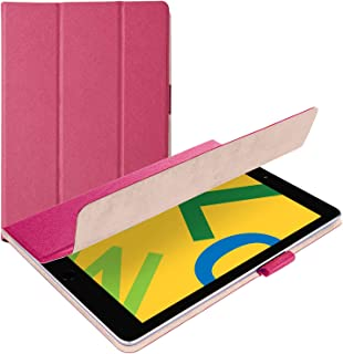 エレコム iPad 10.2 (2019) ケース フラップケース イタリア製高級ソフトレザー 2アングル 薄型 ピンク TB-A19RWDTPN