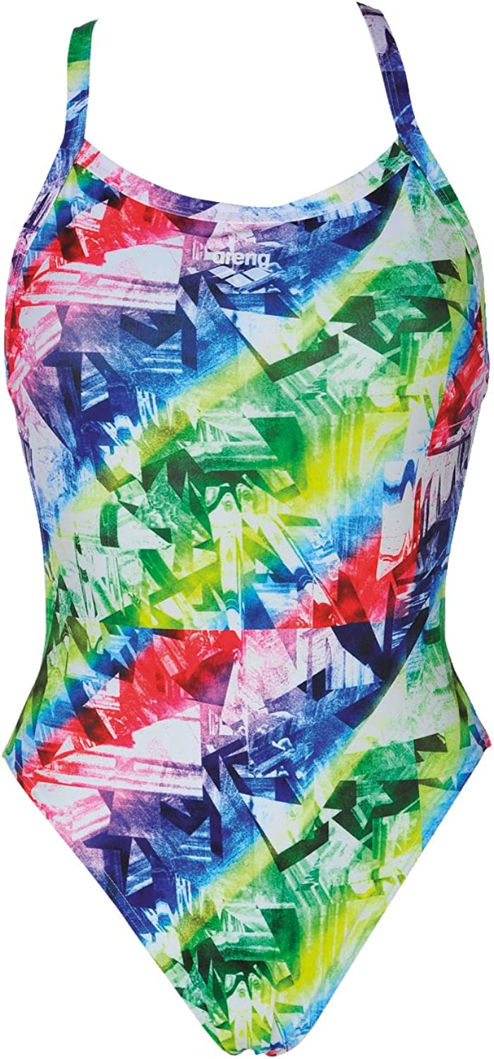 Arena Womens Glitch Swimsuit  Multicolour Leaf