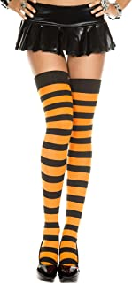 Wide Stripes Thigh High Stockings